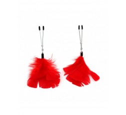 sexy shop online i trasgressivi Pinze Per Capezzoli - Nipple Clamps With Feathers - Rimba