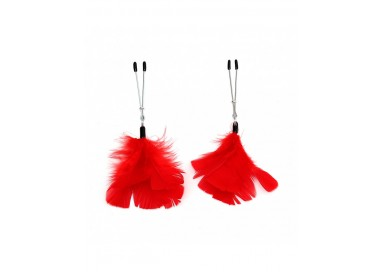 Pinze Per Capezzoli - Nipple Clamps With Feathers - Rimba