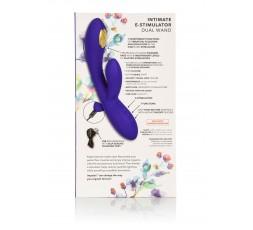 sexy shop online i trasgressivi Vibratore Rabbit - Estim Dual Wand Blue - California Exotics