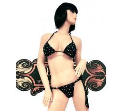 Sexy Shop Online I Trasgressivi - Bikini Transgender - Bikini Blu a Pois Multicolore - Ivete Pessoa