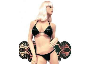 Bikini Transgender - Bikini Nero Plastificato Brillante - Ivete Pessoa