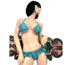 Sexy Shop Online I Trasgressivi - Bikini Transgender - Bikini Azzurro con Stampa Sirena - Ivete Pessoa