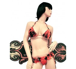 Sexy Shop Online I Trasgressivi - Bikini Transgender - Bikini Arancione con Motivi - Ivete Pessoa