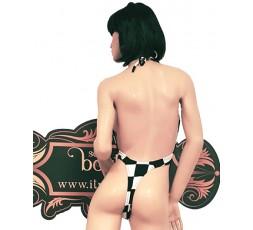 sexy shop online i trasgressivi Trikini a Scacchi Bianchi e Neri - Ivete Pessoa
