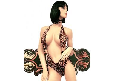 Trikini Transgender - Trikini Leopardato con Fibbie Dorate - Ivete Pessoa
