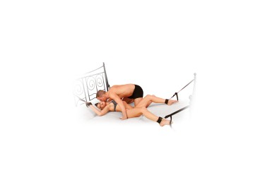 Kit BDSM - Cuff & Tether Set Black - Pipedream