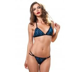 Sexy Shop Online I Trasgressivi - Sexy Lingerie - Strappy Bra & Brazilian Panty Black - Leg Avenue