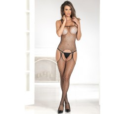 Sexy Shop Online I Trasgressivi - Bodystocking - Industr. Net Suspender Bodystocking Black - Renè Rofè