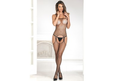 Bodystocking - Industr. Net Suspender Bodystocking Black - Renè Rofè