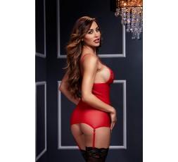 Sexy Shop Online I Trasgressivi - Sexy Lingerie - Basque W/ Garter Stays No Panty, Red - Baci Lingerie