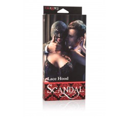 sexy shop online i trasgressivi Maschera BDSM - Scandal Lace Hood Black - California Exotics