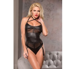 Sexy Shop Online I Trasgressivi - Sexy Lingerie - Crs Neck Mesh Teddy Black - Allure
