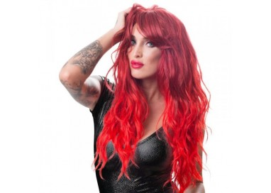 Parrucca - Wig, Red, Wavy and Long - Orion