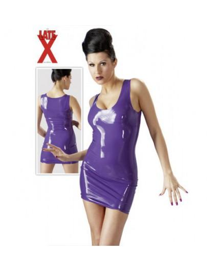 Sexy Shop Online I Trasgressivi - Abbigliamento In Latex - Mini Abito In Lattice Viola - Latex