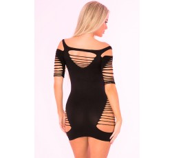 Sexy Shop Online I Trasgressivi - Abito Sexy - Back To Bad Seamless Dress Black - Pink Lipstick