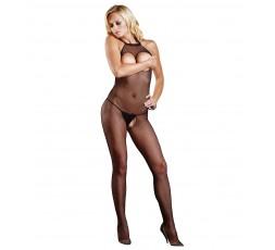Sexy Shop Online I Trasgressivi - Bodystocking - Bodystocking Nero A Rete Forato Seamless Halter - Leg Avenue