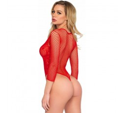 Sexy Shop Online I Trasgressivi - Sexy Lingerie - Body High Cut Deep Lace And Net Thong Back Teddy - Leg Avenue