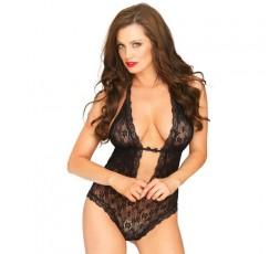 Sexy Shop Online I Trasgressivi - Sexy Lingerie - Body in pizzo Nero - Leg Avenue