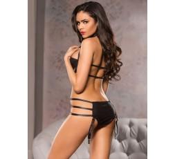 Sexy Shop Online I Trasgressivi - Sexy Lingerie - Body Halter Neck Teddy Nero - Allure