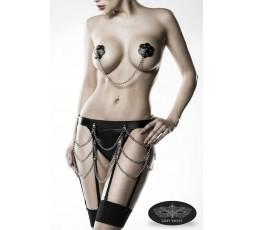 Sexy Shop Online I Trasgressivi - Abbigliamento In Pelle - Set Intimo Fetish 3 Pezzi - Grey Velvet