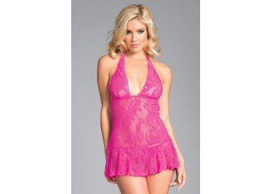 Sexy Lingerie - Babydoll Taylor Floral Lace - Be Wicked
