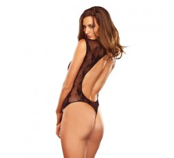 Sexy Shop Online I Trasgressivi - Sexy Lingerie - Stretch Lace G String Teddy Black - Leg Avenue