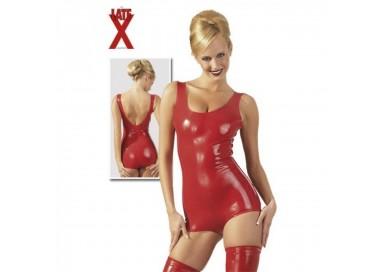 Abbigliamento In Latex - Body In Lattice Rosso - Latex