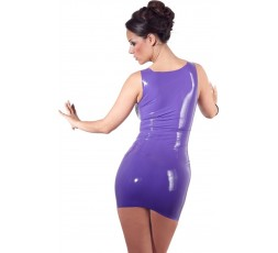 Sexy Shop Online I Trasgressivi - Abbigliamento In Latex - Mini Abito In Lattice Viola - Latex