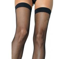 Sexy Shop Online I Trasgressivi - Calze & Collant - Calze Autoreggenti Nere Rete Thigh Highs Nylon Fishnet - Leg Avenue