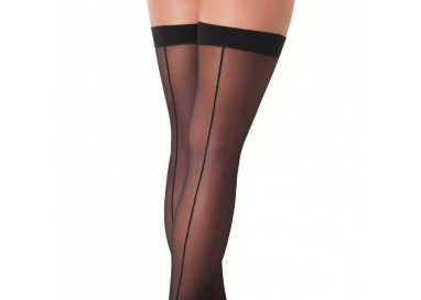 Calze & Collant - Calze Autoreggenti Nere Stockings With Seem Amorable - Rimba