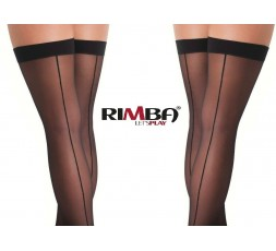 Sexy Shop Online I Trasgressivi - Calze & Collant - Calze Autoreggenti Nere Stockings With Seem Amorable - Rimba