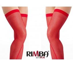 Sexy Shop Online I Trasgressivi - Sexy Lingerie - Calze a Rete Autoreggenti Rosse Stocking Amorable - Rimba