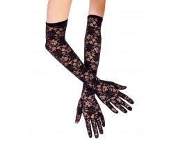 Sexy Shop Online I Trasgressivi - Guanti - Neri Pizzo Lunghi - Music Legs