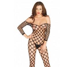 Sexy Shop Online I Trasgressivi - Bodystocking - Bodystocking Rete Larga Nero - Leg Avenue
