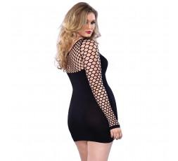 Sexy Shop Online I Trasgressivi - Abito Sexy - Mini Dress Diamond Net Bodice and Sleeves - Leg Avenue