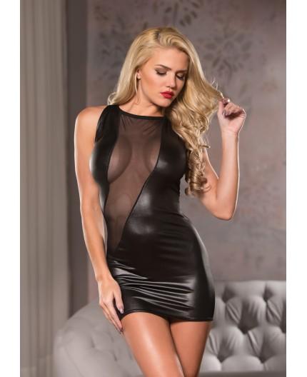 Sexy Shop Online I Trasgressivi - Abito Sexy - Mini Abito Nero Effetto Bagnato Cut A Way Mini Dress - Allure