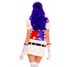 Sexy Shop Online I Trasgressivi - Costume Halloween - Infermiera Dell'Orrore Hot Mess Harley Nurse White - Music Legs