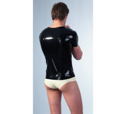 Sexy Shop Online I Trasgressivi - T-Shirt Uomo - T-Shirt In Latex Nero Lucido - Latexa
