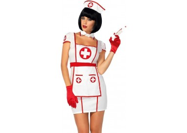 Carnevale Donna - Costume da Hospital Heartbreaking Infermiera - Leg Avenue