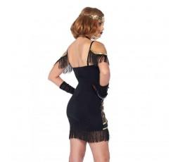 Sexy Shop Online I Trasgressivi - Carnevale Donna - Speakeasy Sweetie Nero - Leg Avenue