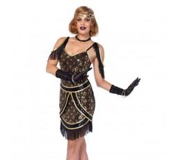 Sexy Shop Online I Trasgressivi - Costume Sexy Per Carnevale - Speakeasy Sweetie Nero - Leg Avenue