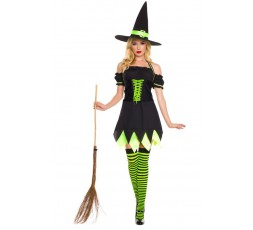 Sexy Shop Online I Trasgressivi - Costume Halloween - Holly Dark Witch - Music Legs