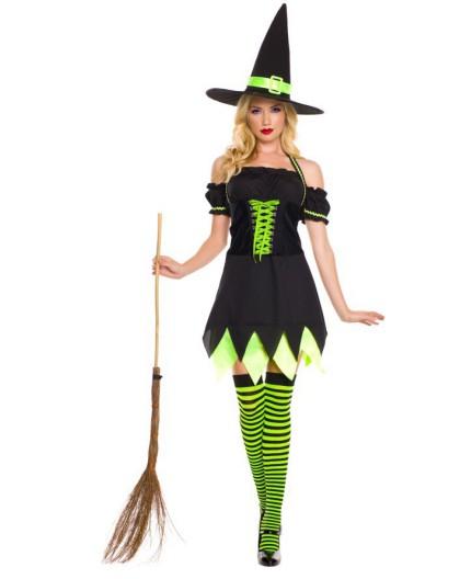 Sexy Shop Online I Trasgressivi - Halloween Donna - Costume da Holly Dark Witch - Music Legs