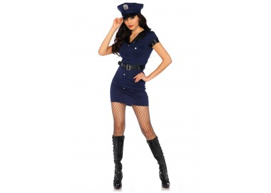Carnevale Donna - Wonderland Arresting Officer Dress - Leg Avenue
