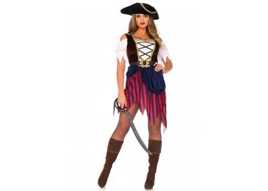 Carnevale Donna - Wonderland Pirate Captain Dress - Leg Avenue