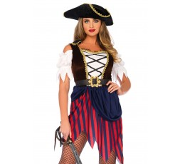 Sexy Shop Online I Trasgressivi - Carnevale Donna - Wonderland Pirate Captain Dress - Leg Avenue
