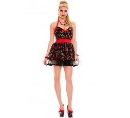 Sexy Shop Online I Trasgressivi - Costume Sexy Per Carnevale - Costume Nero Con Ciliegie - Music Legs