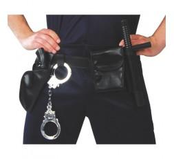 Sexy Shop Online I Trasgressivi - Costume Sexy Per Carnevale - Set Cinturone Da Polizia Completo Nero - Guirca