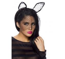 Sexy Shop Online I Trasgressivi - Costume Sexy Per Carnevale - Orecchie Da Coniglietta Tulle Nere