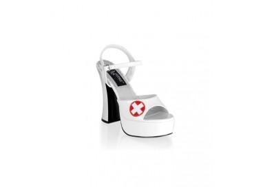 Scarpa da Infermiera - Sandalo Dolly 10 - Pleaser